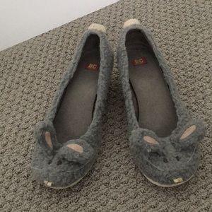 Gray bunny rabbit heels BC footwear ModCloth